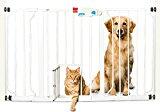 5 Pet Gates With A Cat Door 4