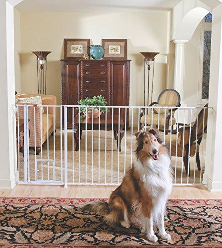 5 Pet Gates With A Cat Door 11