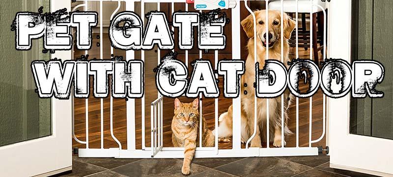 5 Pet Gates With A Cat Door 1